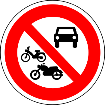 interdit aux v�hicules motoris�s