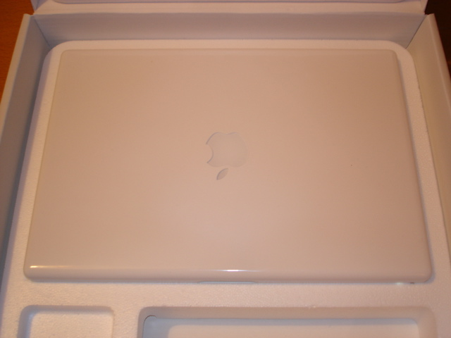 macbook in a shell